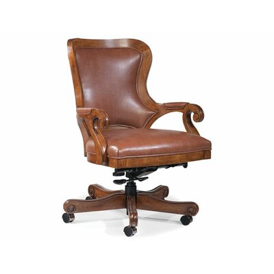 Fairfield Chair Mid-Back Leather Executive Office Chair with Arms