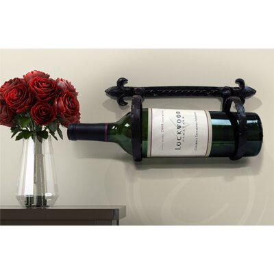 Epicureanist Fleur de Lis 1 Bottle Wall Mounted Wine Rack