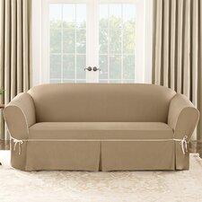 Brilliant Sure Fit Cotton Duck Sofa Slipcover Gwrdfhrew Interior Design Ideas Grebswwsoteloinfo