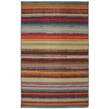 Patio Avenue Stripe Hand-Tufted Brown Indoor/Outdoor Area Rug