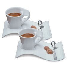 New Wave Caffe 6 Piece Espresso Set