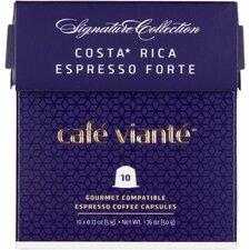 Café Viante 80 Count Costa Rica Espresso Forte Capsules for Nespresso Machine