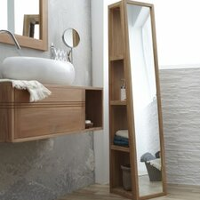 twig 30 x 150cm mirrored free standing tall bathroom cabinet by