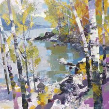 Birch In Spring by Chris Forsey Canvas Wall Art