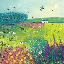 Midsummer Meadow by Jo Grundy Canvas Wall Art