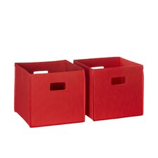 Folding toy storage bins