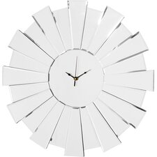 55cm Sunburst Mirror Wall Clock
