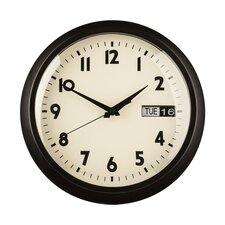 30cm Day / Date Wall Clock