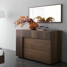 Air 2 Drawer Dresser with Mirror by Rossetto USA