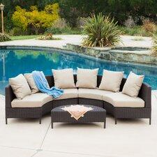 Mercury Row Eta Low Profile 5 Piece Seating Group With Cushion Chanade Jainid