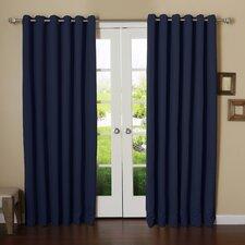 modern blue curtains drapes allmodern. Black Bedroom Furniture Sets. Home Design Ideas