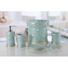 Blue bath accessory sets you 39 ll love wayfair for Green glass bath accessories