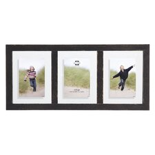 3 Opening Bristol Distressed Wood Float Picture Frame
