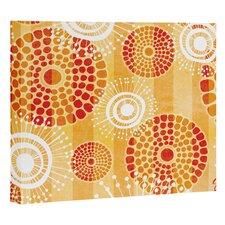 Design festive batik graphic art on wrapped canvas