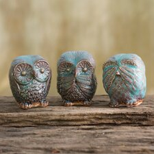 Owls you 39 ll love wayfair - Hear no evil owls ceramic ...