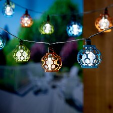 Solar 20-Light 5.5 ft. Globe String Lights