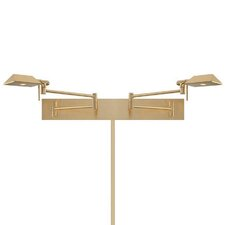 cue led double swing arm light brass swing arm wall lamp