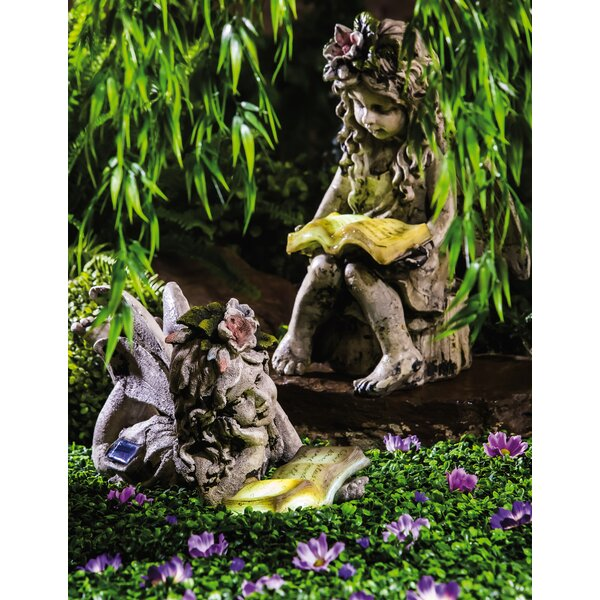 Reading fairy garden statue reviews joss main Reading fairy garden statue