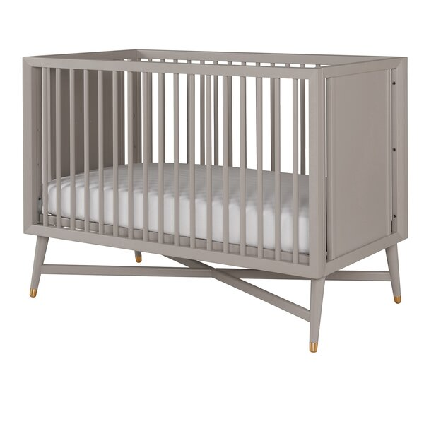 dwellstudio mid century convertible crib in french grey reviews