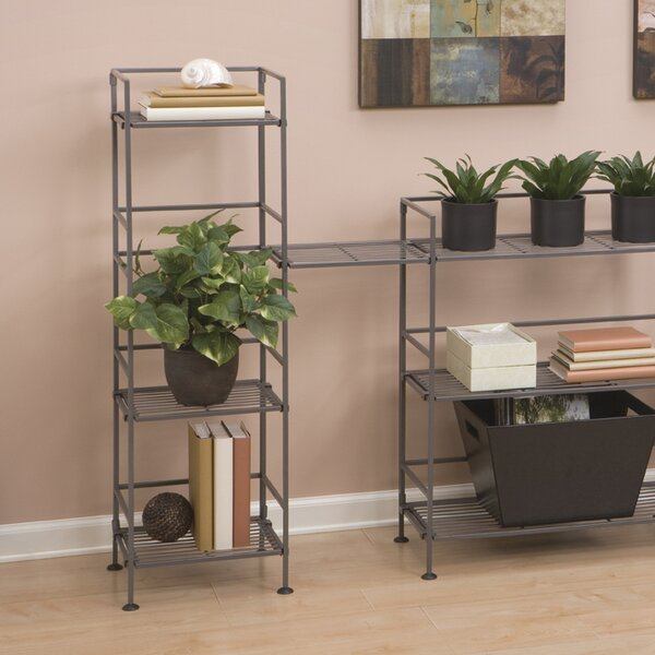 "Classics Iron Square Tower 44.25"" H Four Shelving Unit"