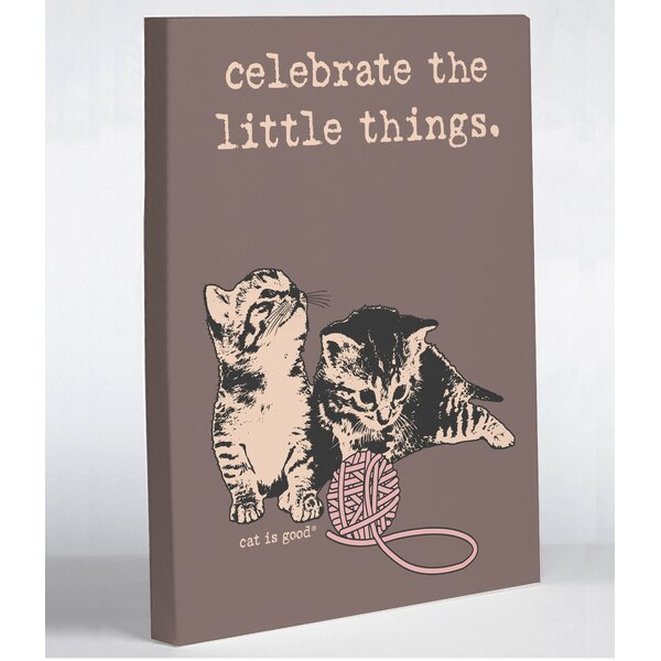 The Little Canvas: Celebrate The Little Things Canvas Print