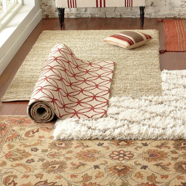 Audrey Brick Floral Wool Hand Tufted Area Rug Amp Reviews