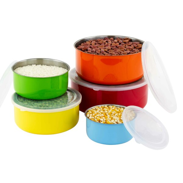 10 Piece Stainless Steel Mixing Bowl Set Amp Reviews Joss
