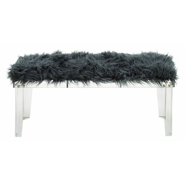 acrylic and fur bedroom bench joss main