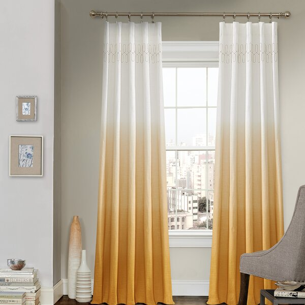 wilkinson ombre pinch pleat single curtain panel reviews. Black Bedroom Furniture Sets. Home Design Ideas