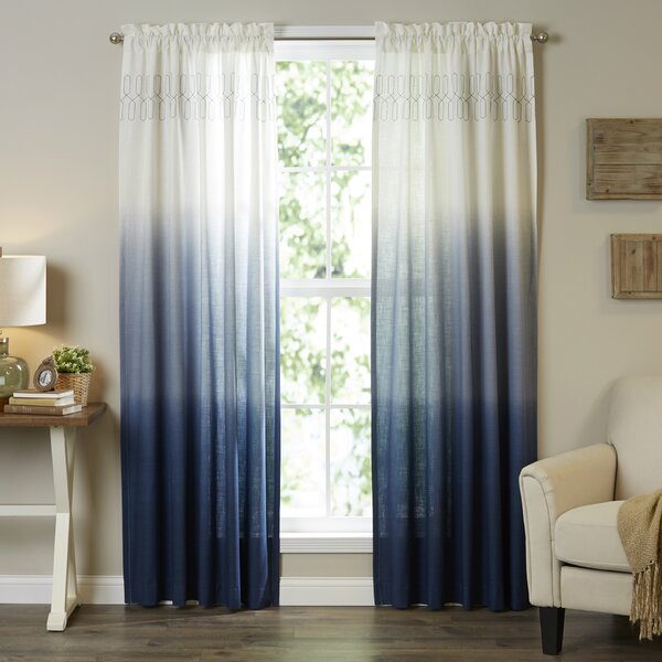 Wilkinson Ombre Pinch Pleat Single Curtain Panel & Reviews
