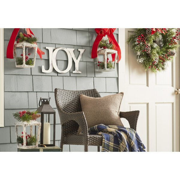 daniela pre lit plaid wreath reviews joss main. Black Bedroom Furniture Sets. Home Design Ideas