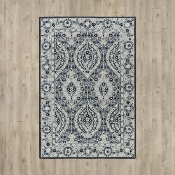 Jasmyn Hand-Tufted Light Gray/Teal Area Rug & Reviews