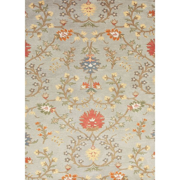 Carlotta Blue Floral Wool Hand Tufted Area Rug Amp Reviews