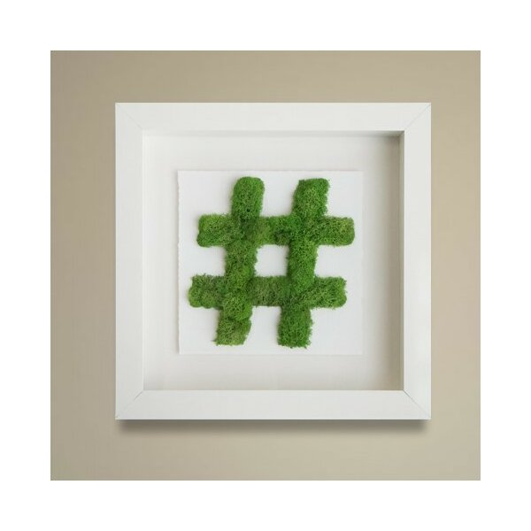 Moss hashtag wall decor oliver gal joss main for Bathroom decor hashtags