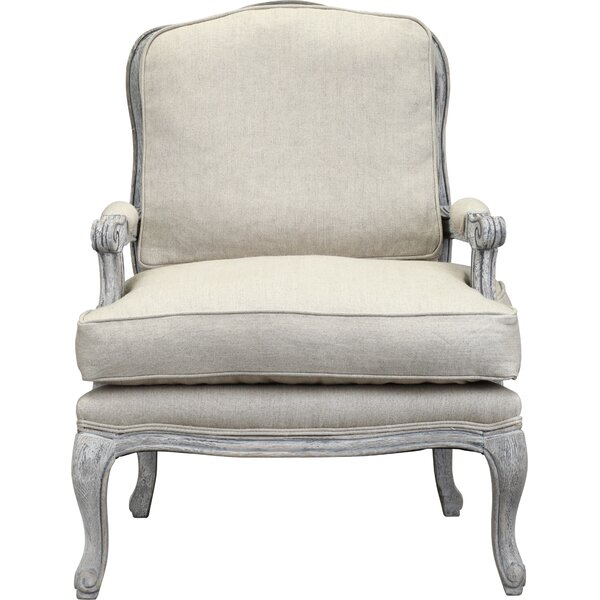 Sara Arm Chair in Antique Whitewash amp Beige amp Reviews  : Spencer2BArm2BChair2Bin2BAntique2BWhite2BWash from www.jossandmain.com size 600 x 600 jpeg 58kB