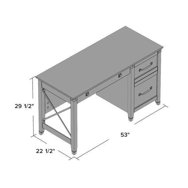 Loon Peak Newdale 3 Drawers Computer Desk Amp Reviews