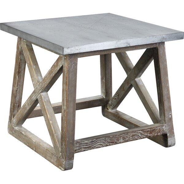 martin reclaimed wood end table reviews joss main