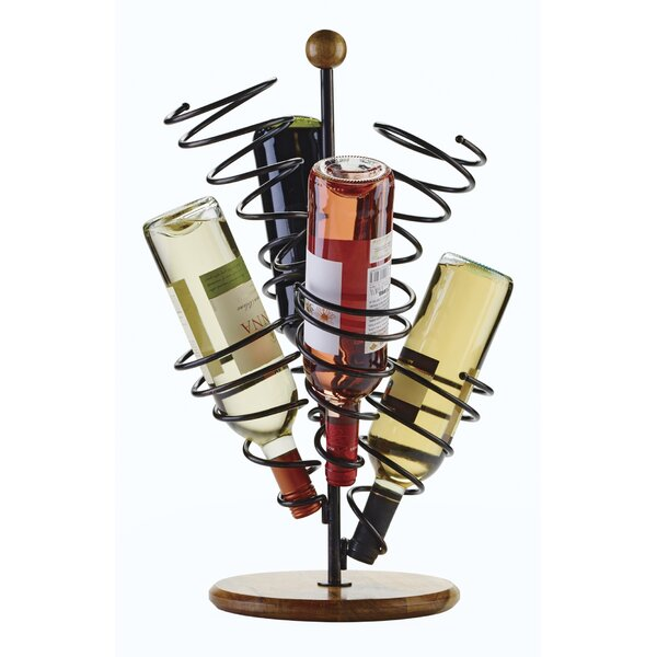 Metal Spiral 6 Bottle Tabletop Wine Rack Reviews Joss