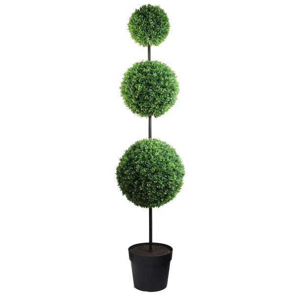66 Quot Tall Artificial Triple Ball Shaped Boxwood Topiary In