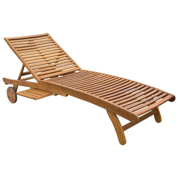 Arlene acacia lounger reviews joss main for Acacia wood chaise lounge