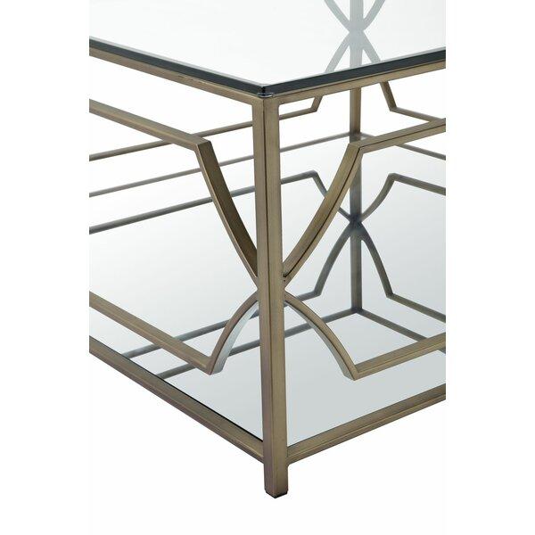 Emmett Square Mirrored Coffee Table & Reviews