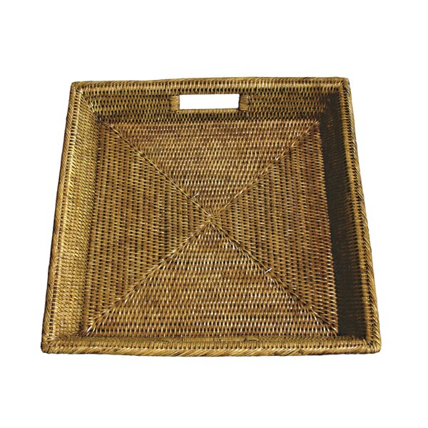 Rattan Square Tray With Cutout Handles Joss Amp Main