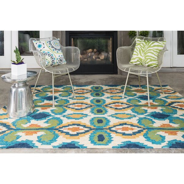 Avery Indoor Outdoor Rug In Ivory Amp Blue Amp Reviews Joss