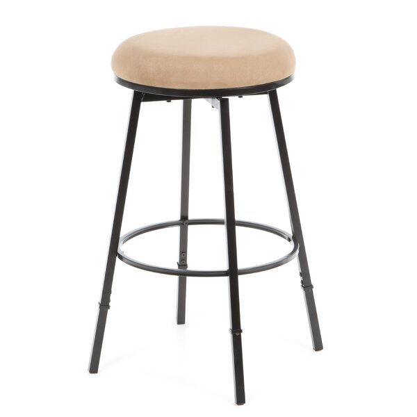 24 30 Adjustable Height Swivel Bar Stool with Cushion  : Sanders2B24 3025222BAdjustable2BBackless2BBar2BStool2Bwith2BBear2BSuede2Bin2BMatte2BBlack from www.jossandmain.com size 600 x 600 jpeg 26kB