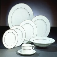 "Silver Double Line 10.25"" Dinner Plate (Set of 6)"