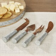 Besson 4-Piece Rosewood and Iron Cheese Set