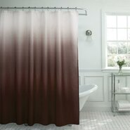 13 Piece Ombre Waffle Weave Shower Curtain Set