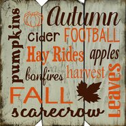 Autumn Football Subway Wall DÈcor