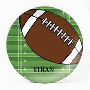 "Football 10"" Melamine Personalized Plate"