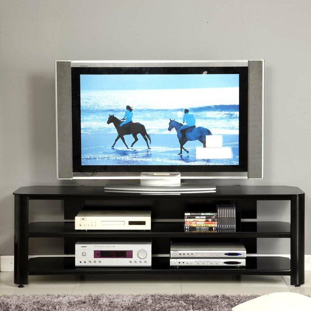 dcor design glass tv stand reviews wayfair. Black Bedroom Furniture Sets. Home Design Ideas